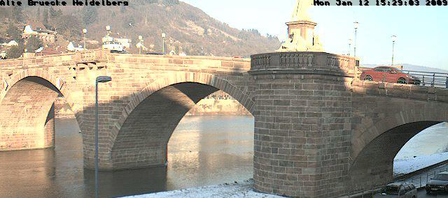 Neckareis bei Heidelberg