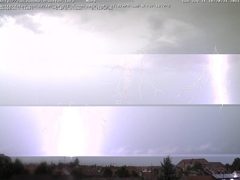 Blitze über Mannheim