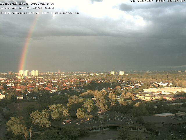 Regenbogen über Mannheim