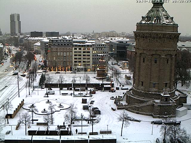 Schnee in Mannheim