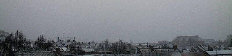 Schneefall in Mannhiem